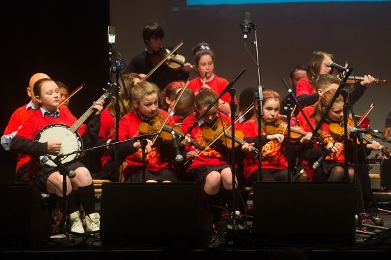 Music Generation Clare young musicians performing at the Fleadh