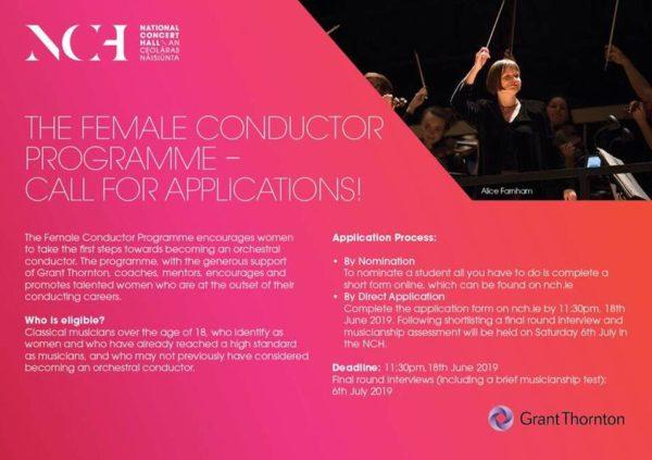 NCH Female Conductor Programme criteria