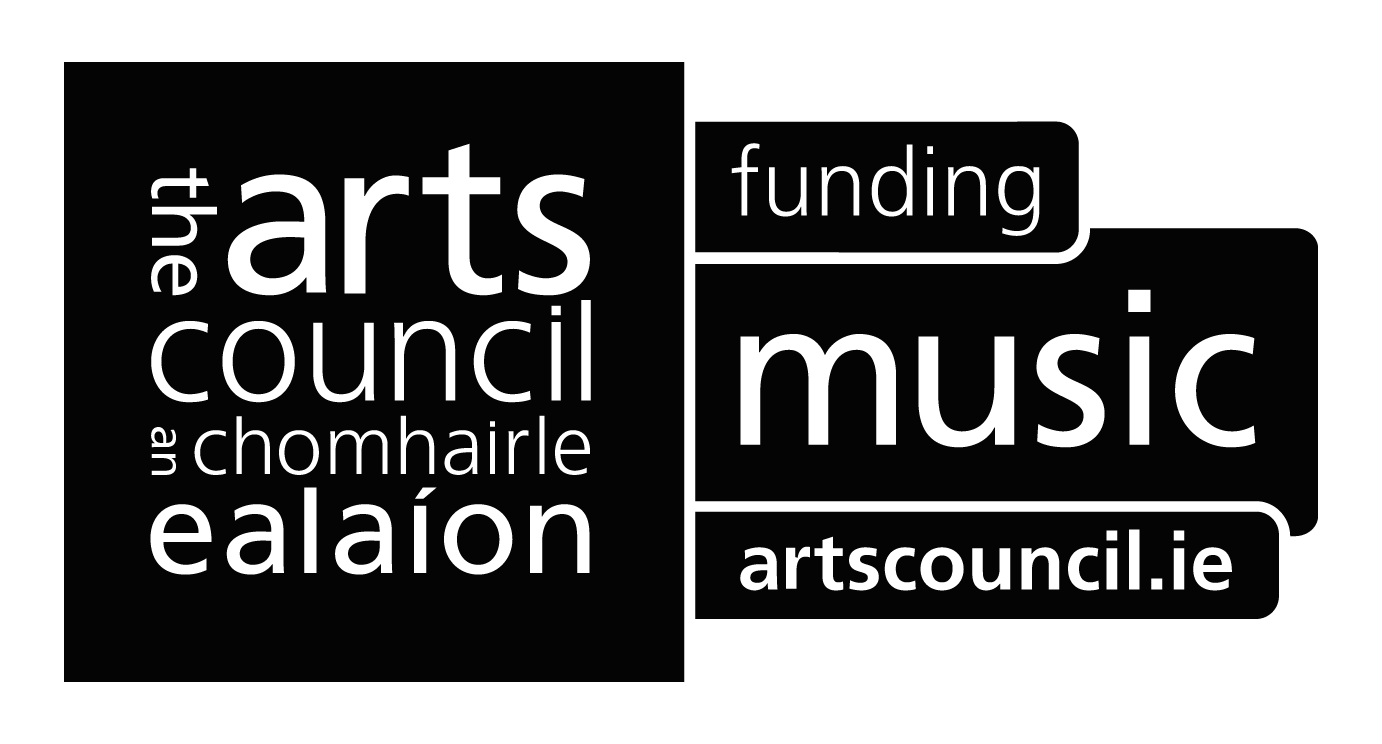 Arts Council of Ireland logo. Funding Music.