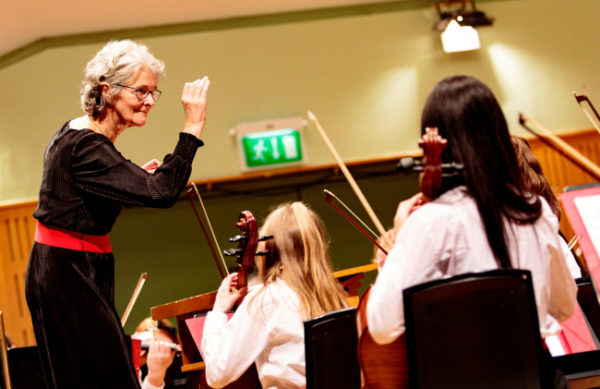 Vanessa Sweeney conducting DYO Junior Strings at this year's Festival of Youth Orchestras