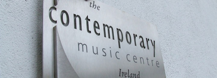 Outside plaque of the Contemporary Music Centre