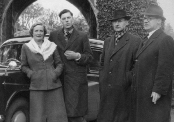 Olive Smith and the New London String Quartet (Erich Gruenberg, Lionel Bentley and Douglas Cameron) at Ashford Castle in Cong, County Mayo, while on an Irish tour in October 1954.