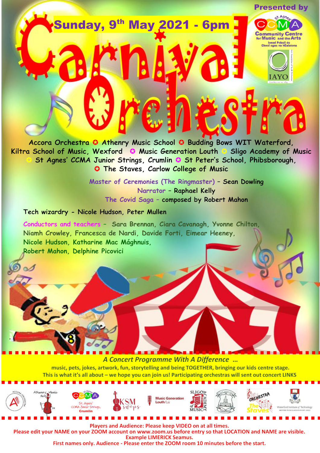 Carnival of Orchestras flyer
