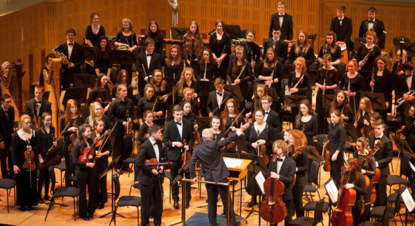 Youth Orchestrar performing in the National Concert Hall