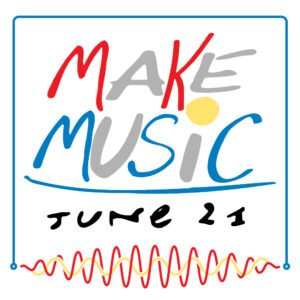 Make Music Day 21 June logo in colour