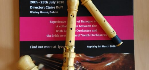 Baroque oboe in three pieces on IYBO poster
