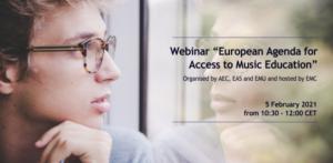 European Music Council webinar flyer