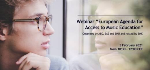 European Music Council webinar flyer
