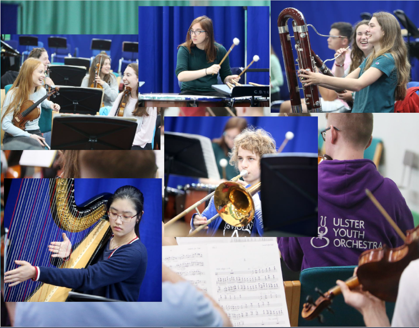 Selection of photos from Ulster Youth Orchestra